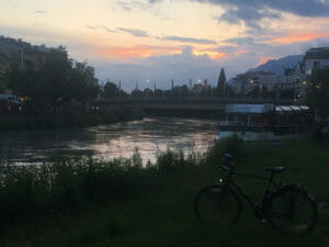 Villach - Abendstimmung - Drau - Alpe-Adria-Radweg Reisebericht