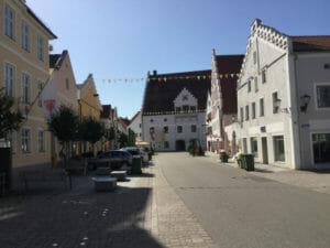 Innenstadt von Beilngries - Altmühltalradweg - Fünf-Flüsse-Radweg