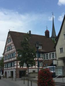 Ditzingen Innenstadt - Fachwerkhaus - Glemsradweg
