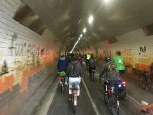 Fahrradtunnel Tübingen - Haagtor - Critical Mass - Mai 2019