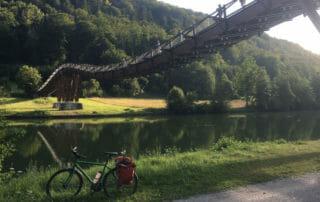 Holzbrücke Essing - Altmühltalradweg - Fünf-Flüsse-Radweg