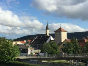 Brücke - Altmühl in Kelheim - Altmühltalradweg - Donauradweg