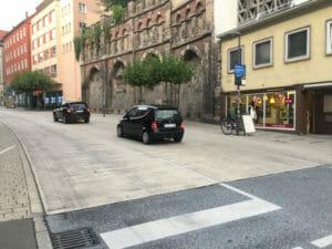 Mühlstraßensperrung Tübingen - illegale Autos