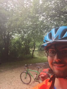 Naab bei Pettendorf - Fünf-Flüsse-Radweg - grünes Fahrrad