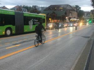 Kopenhagenisierung Tübingens - Bus Tübingen - Neckarbrücke - mit Mühlstraßensperrung