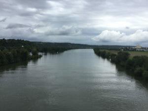 Naab fließt in die Donau - Blick auf Donau - bei Regensburg und Mariort - Radtour