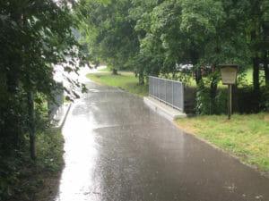 Schwieberdingen - Glems - im Regen - Glemsmühlenradweg