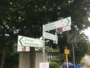 Glemsmühlenradweg - Ende - in Unterriexingen
