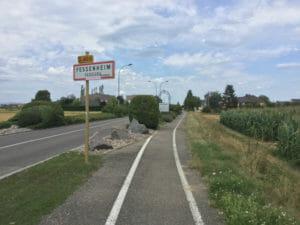 Fessenheim Atomkraftwerk und Radtour - französischer Rheinradweg