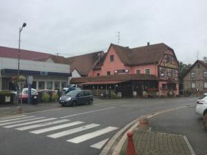 Herrlisheim - Véloroute Rhin - französischer Rheinradweg