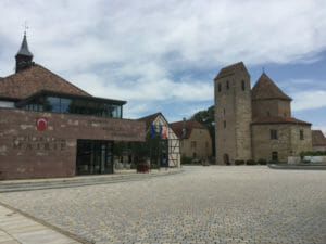Ottmarsheim - Innenstadt - französischer Rheinradweg