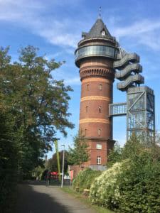 Wasserturm Styrum - Mülheim an der Ruhr - Aquarius Wassermuseum - Ruhrtalradweg - Ruhrradweg