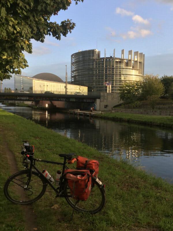 Straßburg - Eu-Parlament - Rhein-Marne-Kanal-Radweg
