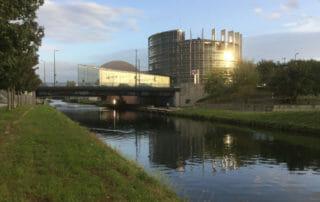 EU-Parlament Straßburg - Rhein-Marne-Kanal-Radweg