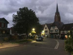 Scherwiller - Dunkelheit und Dämmerung - Radweg der elsässischen Weinstraße