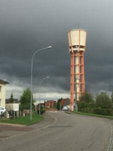 Seltz - Wasserturm - Regen - An der Maginot Linie