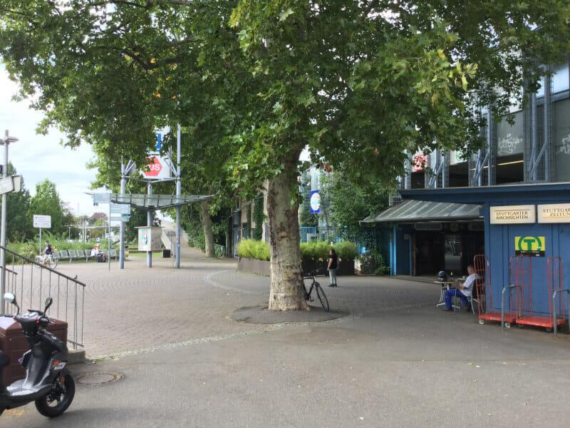 Bahnhof Untertürkheim aus Radfahrersicht