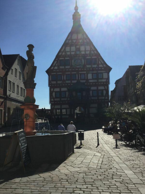 Rathaus Besigheim - Altstadt - Neckarradweg
