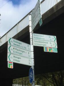 Fahrradwegweiser Göppingen - Neckar-Alb-Radweg