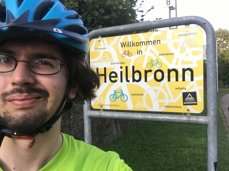 Heilbronn - RadtourenChecker - Fahrradschild - Am Neckarradweg