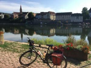 Neckargemünd - Neckarradweg - Wunderschöner Blick auf den Ort