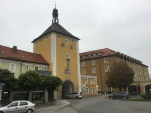 Obere Stadttor in Laufen - Bajuwarenradweg