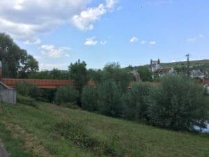 Plochingen mit Brücke und Hundertwasserhaus - Radtour