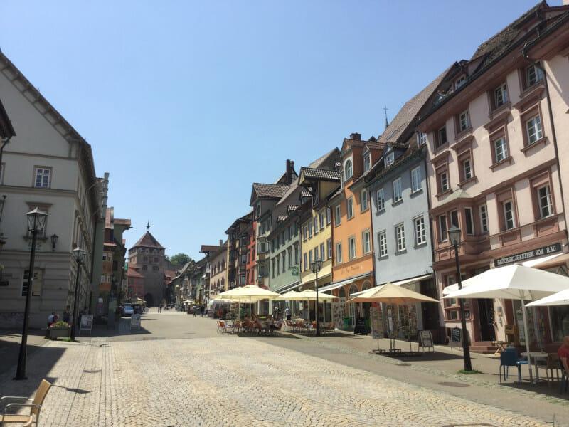 Die Altstadt Rottweils - Aufsteigend - Neckartalradweg