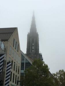 Ulmer Münster - Alb-Neckar-Radweg - im Nebel