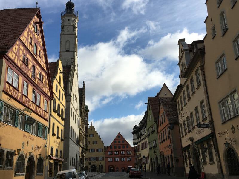 Die Innenstadt von von Rothenburg ob der Tauber ist richtig schön.