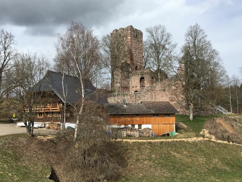 Burgruine Waldau - Königsfeld im Schwarzwald - Schwarzwald-Panorama-Radweg