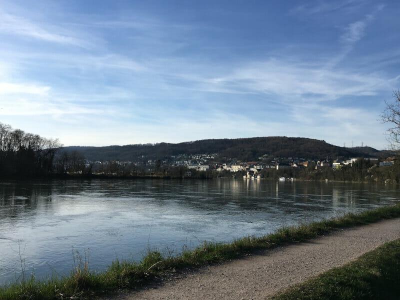 Schwarzwald-Panorama-Radweg - Waldshut-Tiengen am wunderschönen Rhein mit weitem Blick