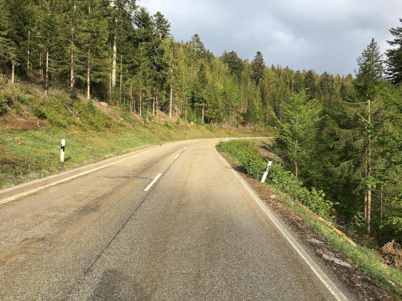 Landstraße zwischen Bad-Rippoldsau-Schapbach und Zwieselberg - Gravel-Tour