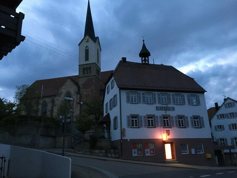 Horb-Altheim bei Nacht Radtour