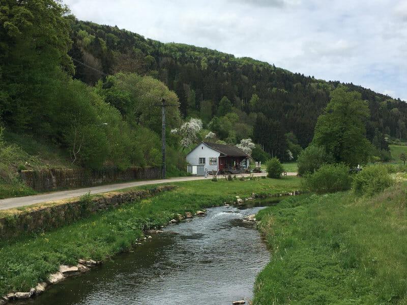 Im Glatttal am Fluss Glatt radfahren - Gravel-Tour