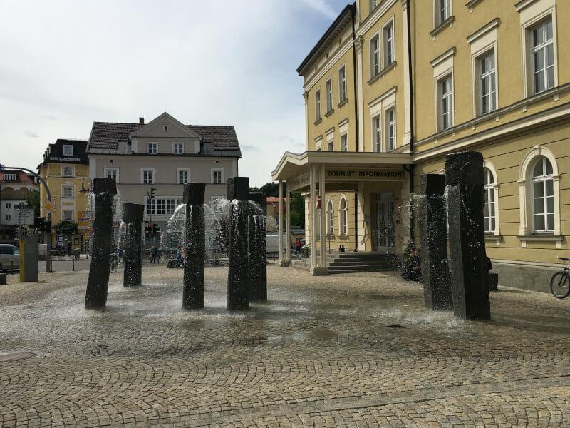 Brunnen in Füssen - Innenstadt am Bodensee-Königssee-Radweg