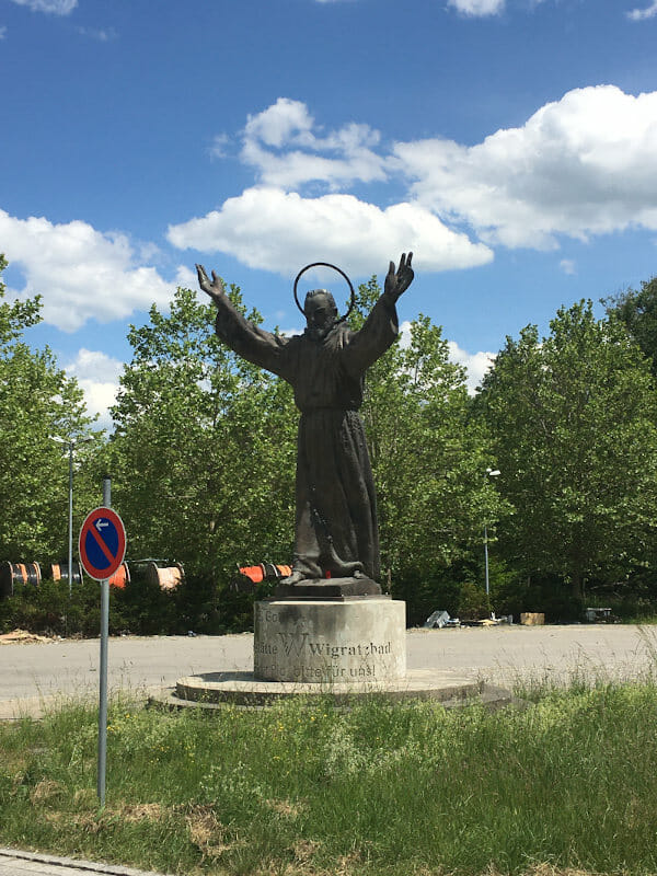 Pater Pio in Wigratzbad - heilige Statue