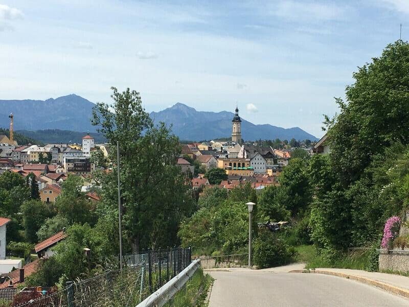 Traunstein von oben - Radtour