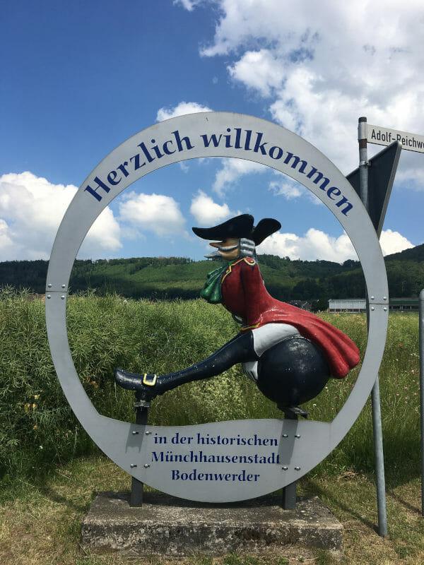 Münchhausenstadt - Bodenwerder am Weser-Radweg 2020