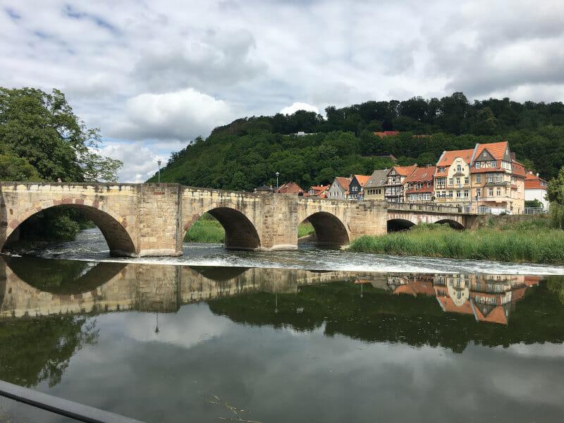 Hann Münden - Werra - Start Weserradweg