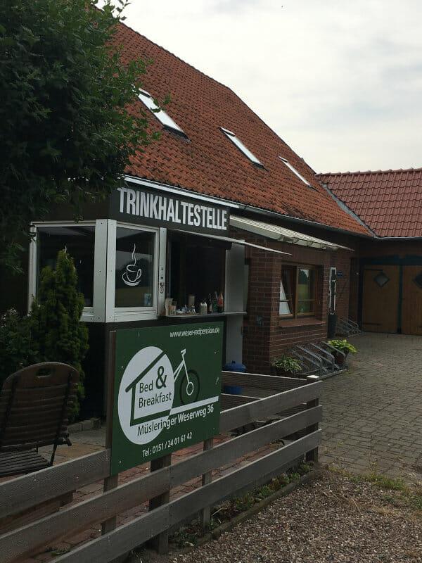 Trinkhalestelle in Mülsteringen - Stolzenau an der Weser - Radtour
