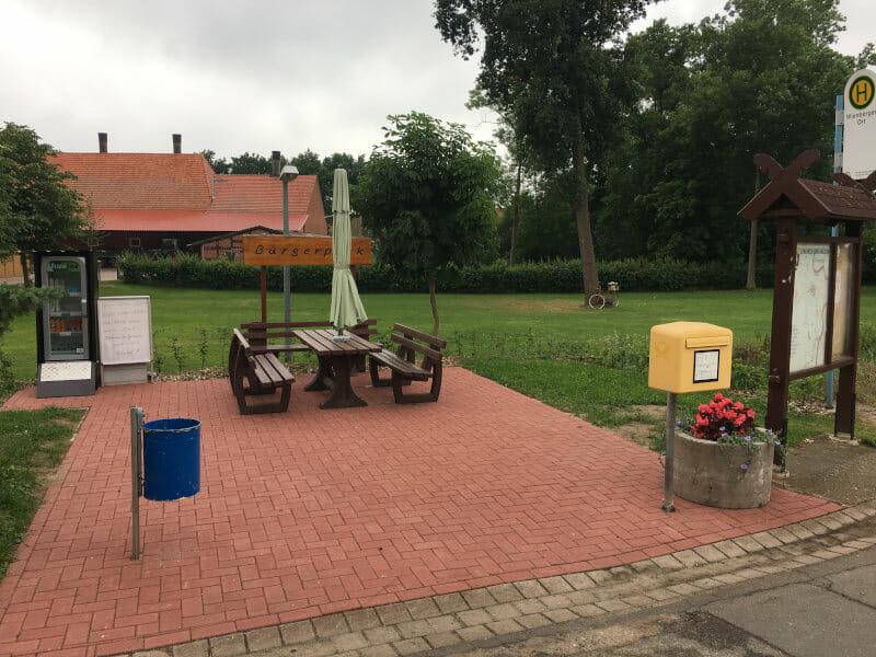 Wienbergen Bürgerpark - Weserradweg Rastplatz