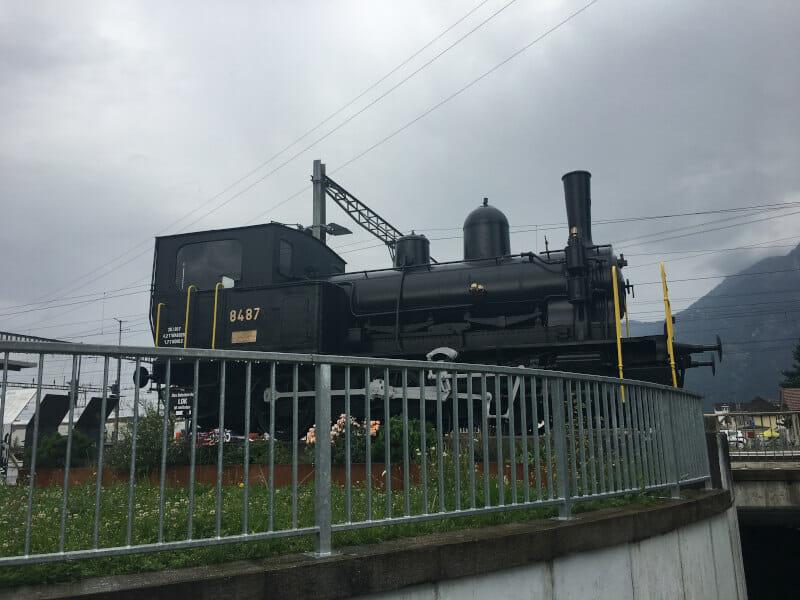 Alte Eisenbahn in Buchs - Rheinradweg Schweiz