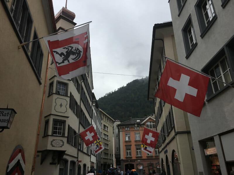Chur Fußgängerzone - Rheinradweg Schweiz