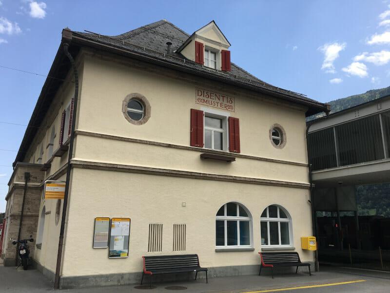 Disentis/Muster - Bahnhof - Rheinradweg