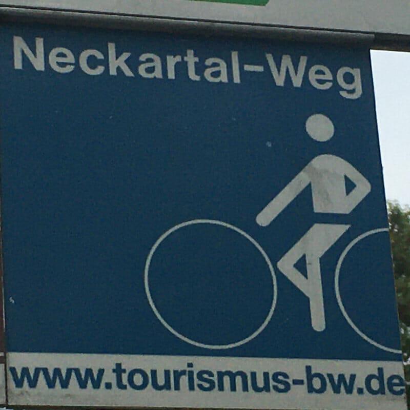 Neckartalradweg Beschilderung