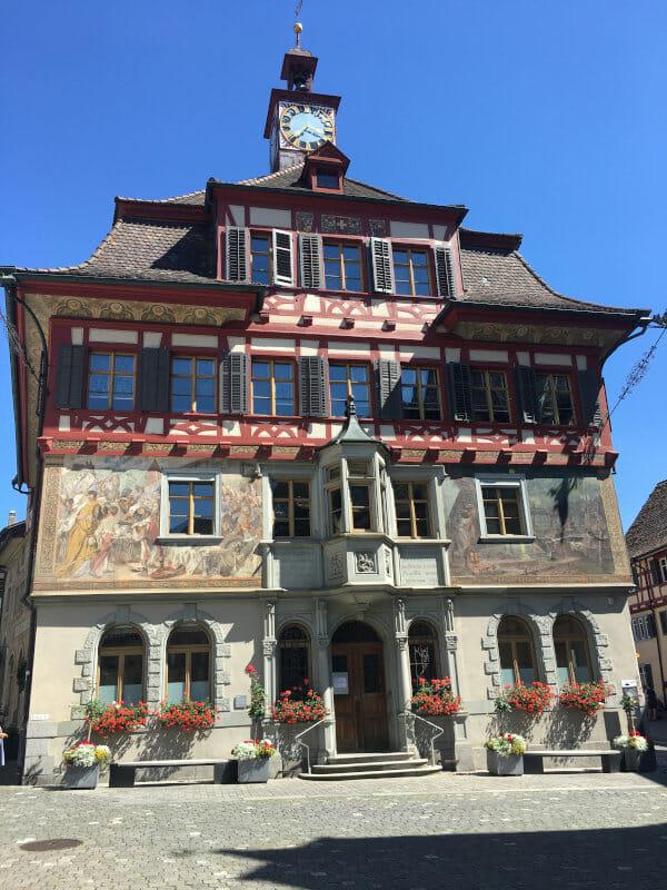 Stein am Rhein - Rathaus - Bodenseeradweg
