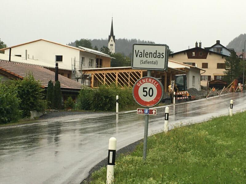 Safiental Valendas - Rheinradweg Schweiz