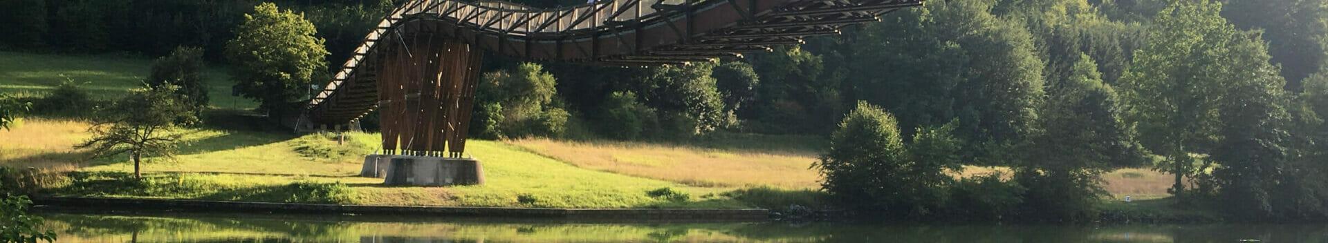 Altmühltalradweg Essing Holzbrücke