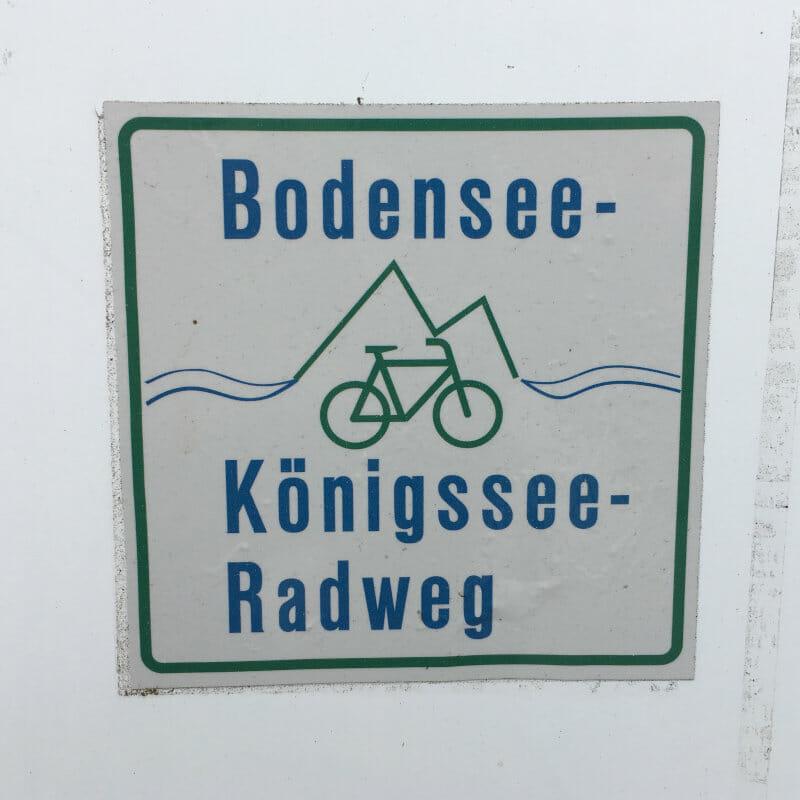 Wegweiser Beschilderung - Bodensee-Königssee-Radweg